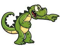 Crocodile zeigend