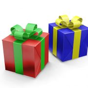 3D render of wrapped gifts